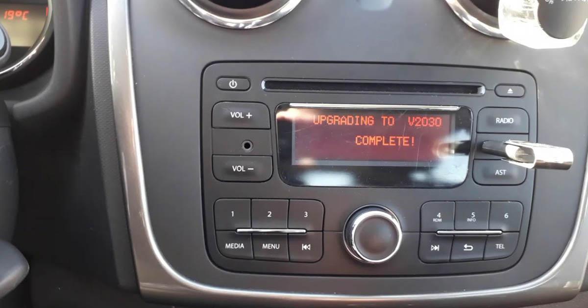 Code radio Dacia